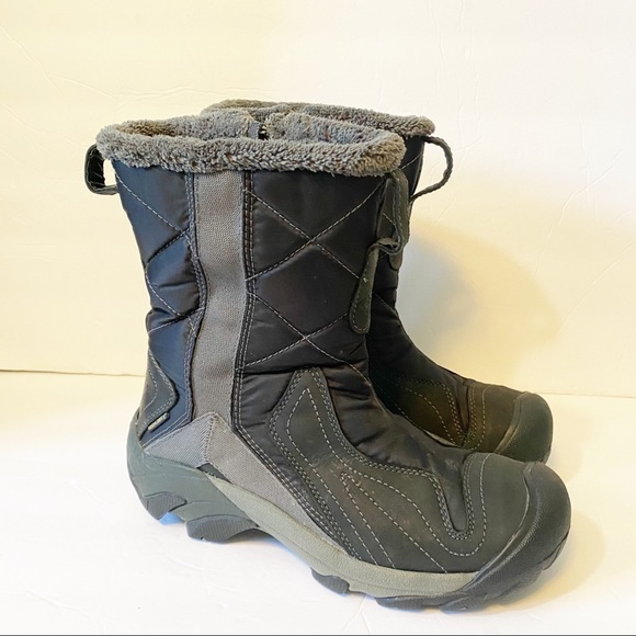KEEN Betty Winter Boots Mid-Calf Black Size 7